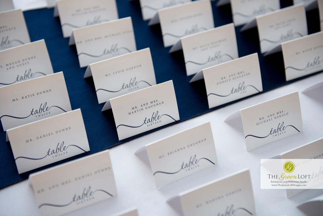 The Green Loft: Navy Escort Cards