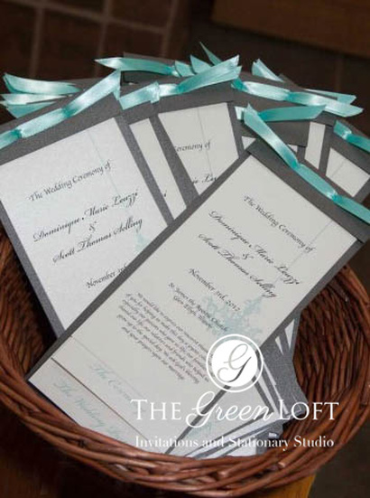 The Green Loft: Tiffany Blue Wedding Invitations