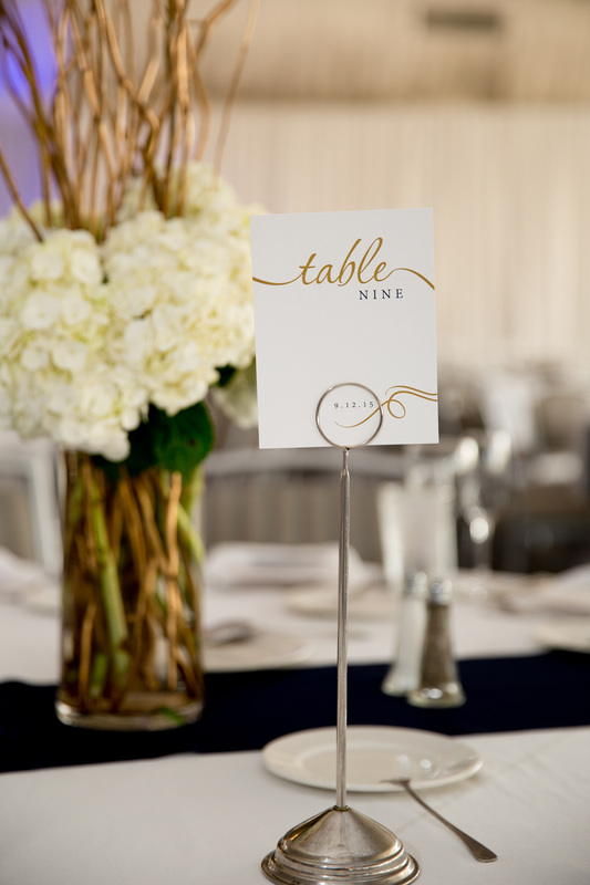 The Green Loft: Gold and Navy Table Numbers